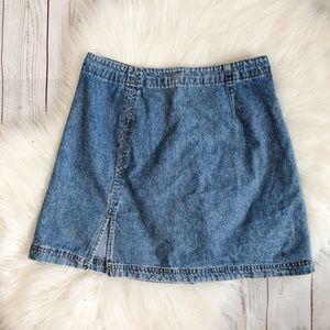 90's Vintage Xhilaration High Waisted Denim Skirt